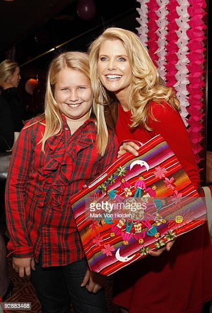 Model Christie Brinkley and daughter Sailor Brinkley attend the Tea Party Angels launch at Doubles on November 7 2009 in New York City