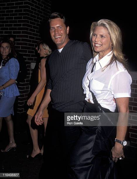 Model Christie Brinkley and husband Peter Cook attend the Talk Magazine Launch Party on August 2 1999 at Liberty Island in New York City
