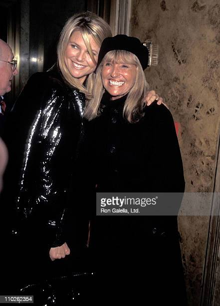 Model Christie Brinkley and mother Marge Brinkley attend Eartha Kitt's Cabaret Concert Performance on January 4 1996 at Cafe Carlyle in New York City