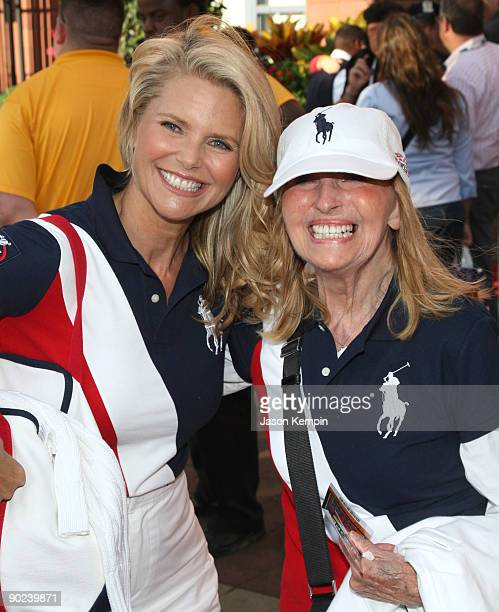 Model Christie Brinkley and mother Marge Brinkley attend the 9th Annual USTA Serves OPENing Gala at the USTA Billie Jean King National Tennis Center...