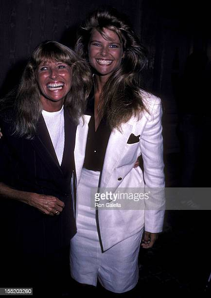 Model Christie Brinkley and mother Marge Brinkley attend the press luncheon to announce the launch of Christie Brinkley's sportswear and swimwear...
