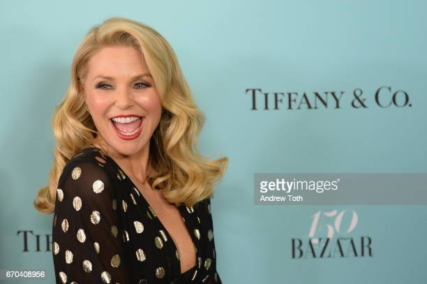 Model Christie Brinkley attends Harper's BAZAAR 150th Anniversary Event presented with Tiffany Co at The Rainbow Room on April 19 2017 in New York...