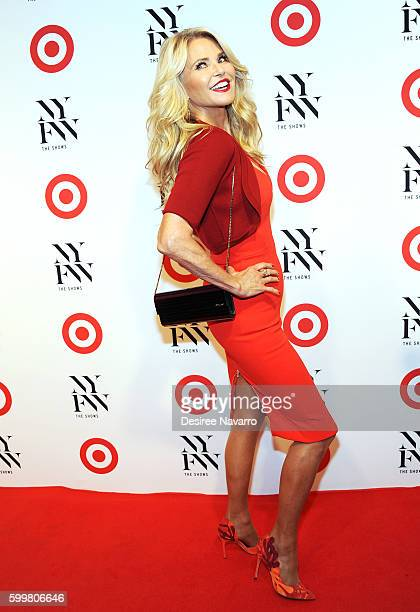 Model Christie Brinkley attends Target + IMG New York Fashion Week Kickoff event at The Park at Moynihan Station on September 6, 2016 in New York...