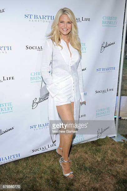 Model Christie Brinkley attends the 2016 St Barth Hamptons Gala at Bridgehampton Historical Society on July 23 2016 in Bridgehampton New York