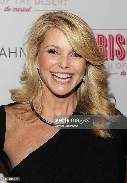 Model Christie Brinkley attends the Broadway opening night of Priscilla Queen of the Desert The Musical at the Palace Theatre on March 20 2011 in New...