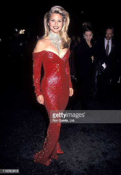 Model Christie Brinkley attends the Eighth Annual Rita Hayworth Gala to Benefit the Alzheimer's Association on October 29 1992 at the Tavern on the...
