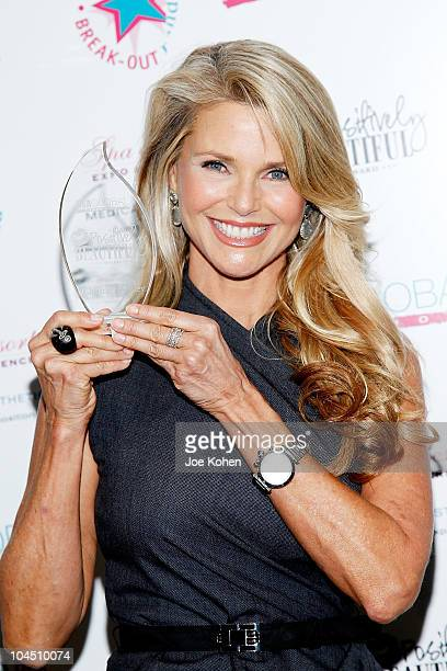 Model Christie Brinkley attends the HBA Global 2010 Positively Beautiful Award presentation at the Jacob Javitz Center on September 28 2010 in New...