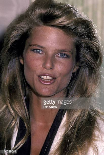 Model Christie Brinkley attends the press luncheon to announce the launch of her sportswear and swimwear collection with Russ Togs Inc on August 30...