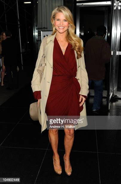 """Model Christie Brinkley attends the screening of """"Fair Game"""" hosted by Giorgio Armani & The Cinema Society at The Museum of Modern Art on October 6,..."""