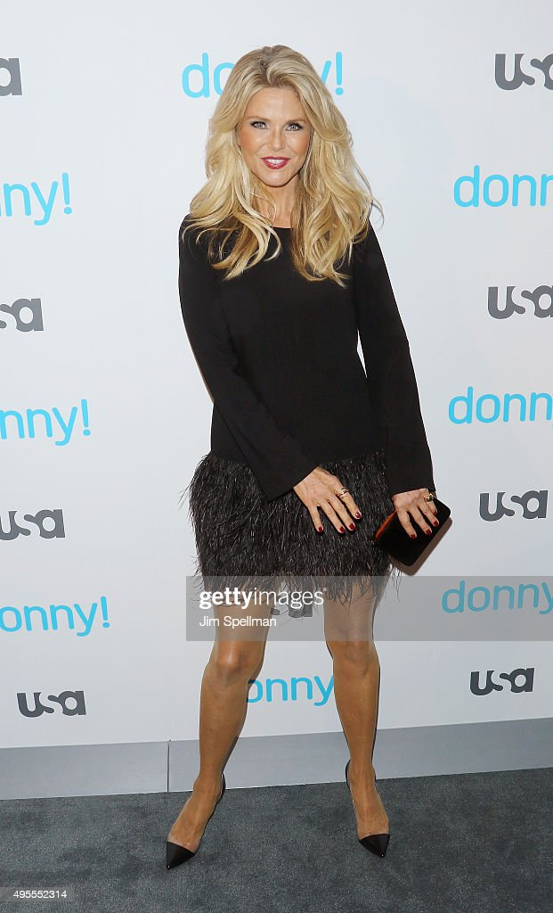 Model Christie Brinkley attends the USA Network hosts the premiere of 'Donny!' at The Rainbow Room on November 3, 2015 in New York City.