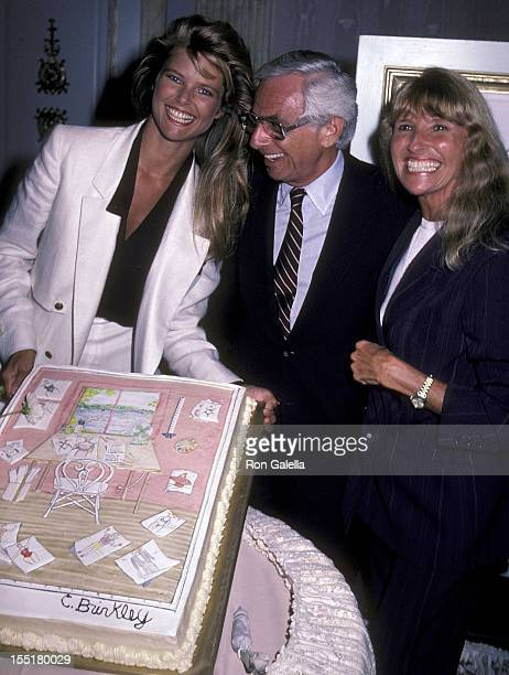 Model Christie Brinkley Russ Rogs Inc executive Harvey Rosenzweig and Christie Brinkley's mom Marge Brinkley attend the press luncheon to announce...