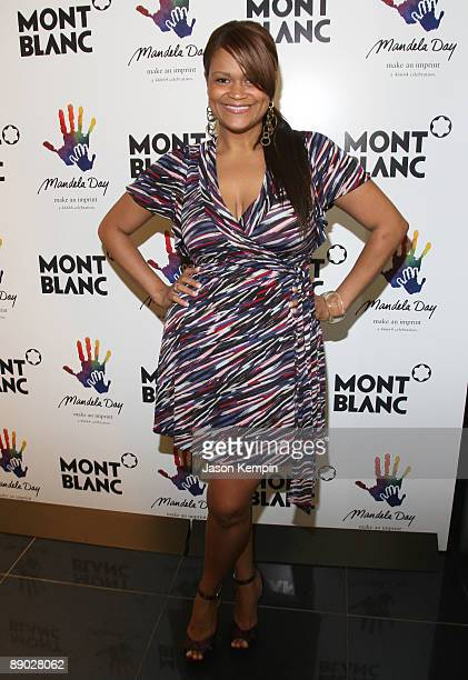 Model Christina Mendez attends the Nelson Mandela Foundation and the 46664 Campaign supported by Montblanc at the Montblanc Madison Avenue Boutique...