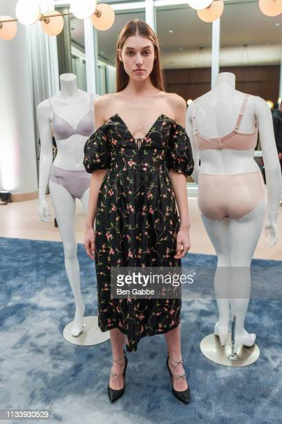 Model Christina Van Nuis attends the Vanity Fair Lingerie 100th Anniversary Celebration with Vogue on March 05 2019 in New York City