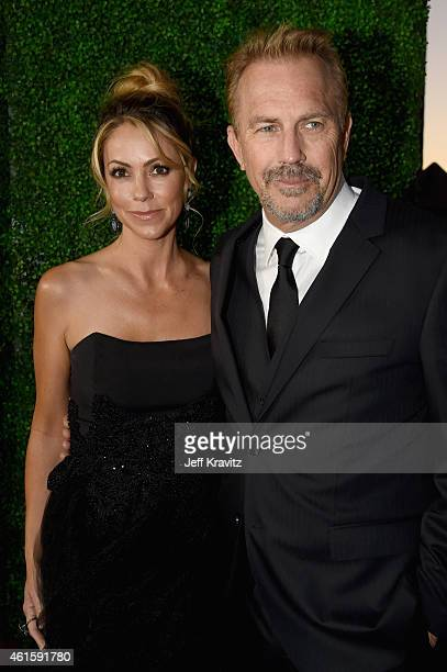 Model Christine Baumgartner and actor Kevin Costner attend the 20th annual Critics' Choice Movie Awards at the Hollywood Palladium on January 15 2015...
