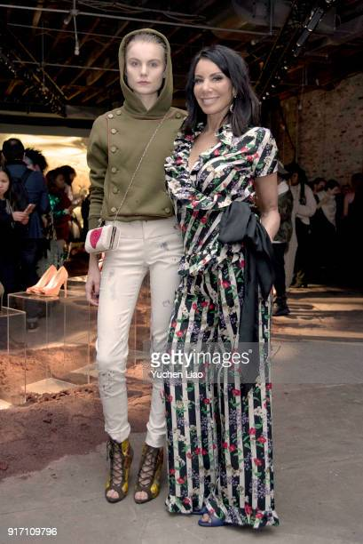 Model Christine Staub and Danielle Staub attends the Angela Mitchell presentation during New York Fashion Week The Shows on February 11 2018 in New...