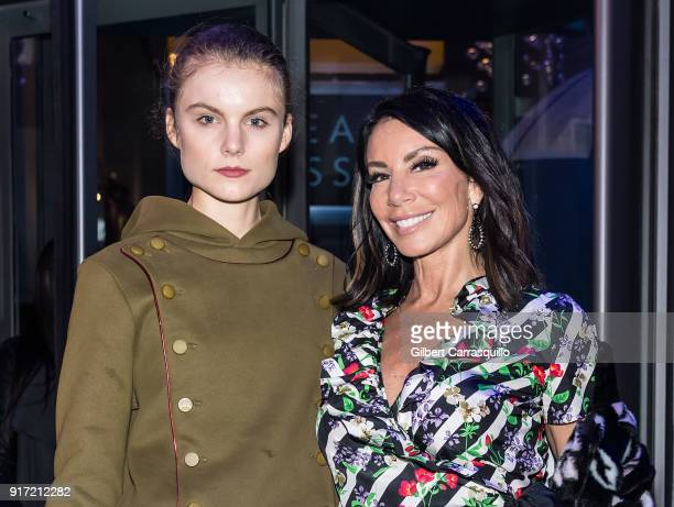 Model Christine Staub and mother TV personality Danielle Staub are seen arriving to the Carmen Marc Valvo fashion show during New York Fashion Week...