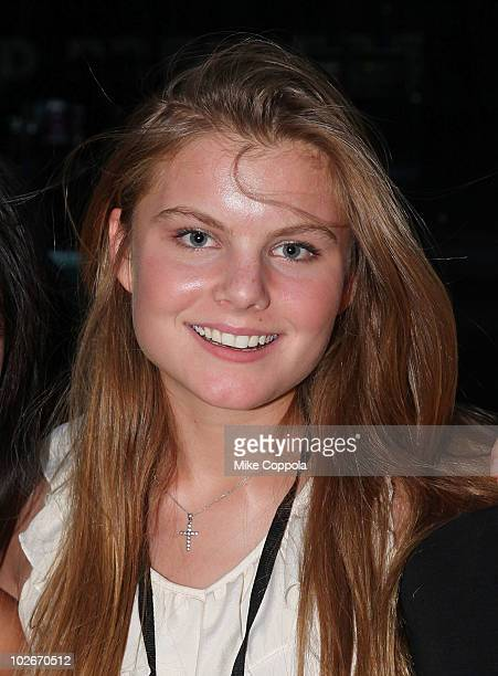 Model Christine Staub attends the The Sorcerer's Apprentice New York premiere performance in Bryant Park on July 6 2010 in New York City