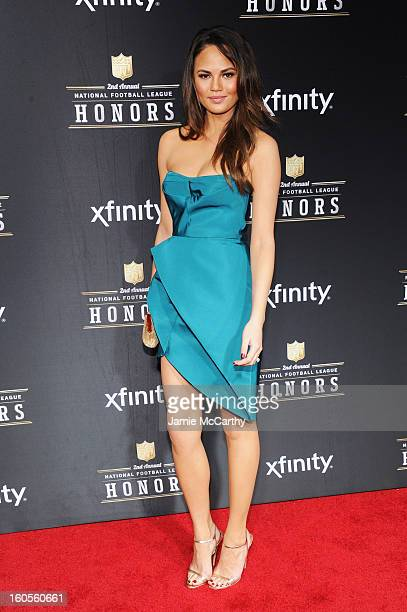 Model Christine Teigen attends the 2nd Annual NFL Honors at Mahalia Jackson Theater on February 2 2013 in New Orleans Louisiana