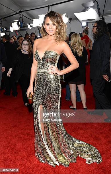 Model Christine Teigen attends the 56th GRAMMY Awards at Staples Center on January 26 2014 in Los Angeles California