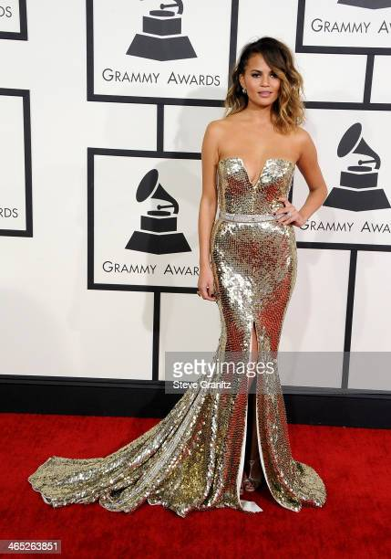 Model Christine Teigen attends the 56th GRAMMY Awards at Staples Center on January 26, 2014 in Los Angeles, California.