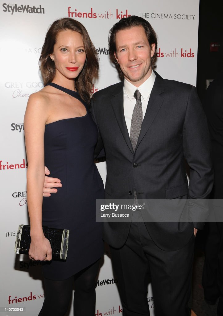 Model Christy Turlington and Ed Burns attend the Cinema Society & People StyleWatch with Grey Goose screening of 'Friends With Kids' at the SVA Theater on March 5, 2012 in New York City.