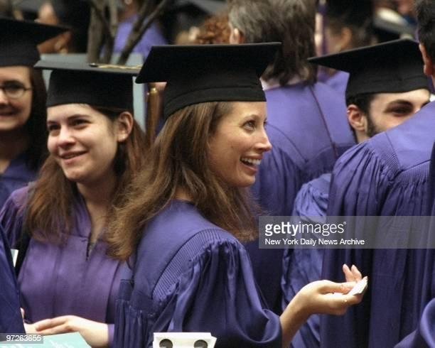 Model Christy Turlington at her Graduation from the Gallatin School of Individual Study at New York University Graduation held at Washington Square...