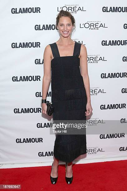 Model Christy Turlington attends the Glamour Magazine 23rd annual Women Of The Year gala on November 11 2013 in New York United States