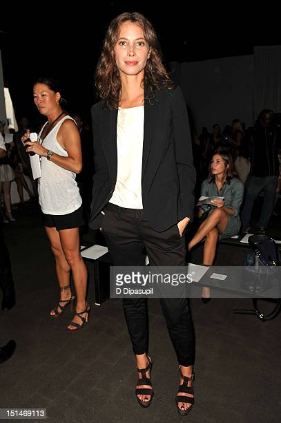 Model Christy Turlington attends the Rag Bone Women's Collection fashion show during MercedesBenz Fashion Week at Skylight Studio on September 7 2012...