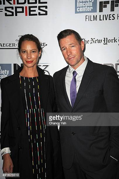 Model Christy Turlington Burns and Edward Burns attend the 53rd New York Film Festival premiere of 'Bridge Of Spies' at Alice Tully Hall Lincoln...