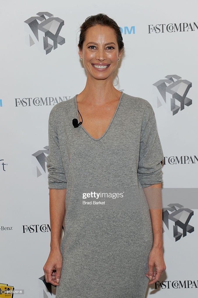 Model Christy Turlington Burns appears during The Fast Company Innovation Festival presentation of 'The Creativity Of Giving: TOMS Founder Blake Mycoskie and Social Entrepreneur Christy Turlington Burns On How Giving Makes For Better Business' on November 11, 2015 in New York City.