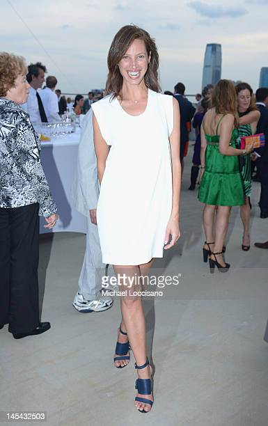 Model Christy Turlington Burns attends the 2012 Hudson River Park Gala at Hudson River Park on May 29 2012 in New York City