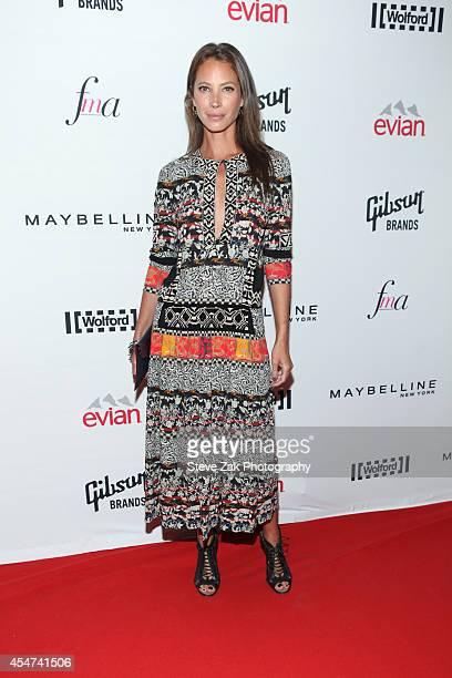 Model Christy Turlington Burns attends The Daily Front Row Second Annual Fashion Media Awards at Park Hyatt New York on September 5 2014 in New York...