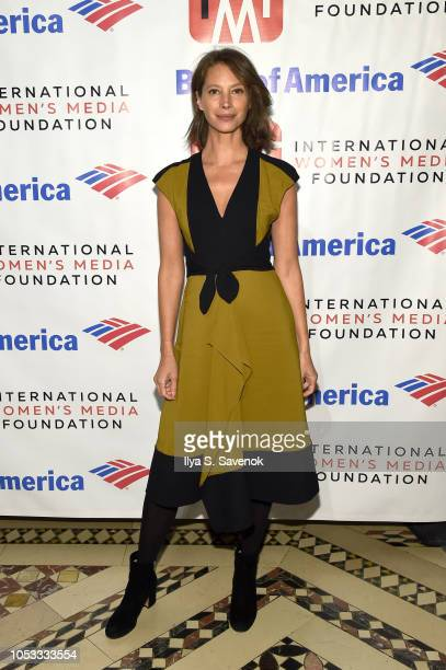 Model Christy Turlington Burns attends the International Women's Media Foundation's 2018 Courage in Journalism Awards at Cipriani 42nd Street on...