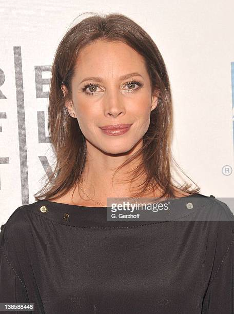 Model Christy Turlington Burns attends the premiere of 'Newlyweds' during the 10th annual Tribeca Film Festival at BMCC Tribeca PAC on April 30 2011...