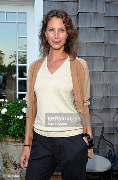 Model Christy Turlington Burns attends'What's On The Table' an event to combat hunger hosted by Vanity Fair and the United Way of NYC at Private...