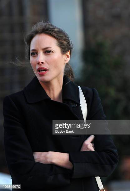 Model Christy Turlington Burns seen on the streets of Manhattan on March 7 2011 in New York City