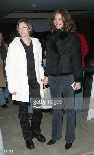 Model Christy Turlington with sister Kelly at the premiere of their new movie Confidence at the 2003 Sundance Film Festival on January 19 2003 in...