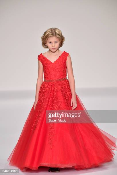 Model Ciel Taylor walks the runway at the Sherri Hill NYFW SS18 fashion show at Gotham Hall on September 12 2017 in New York City