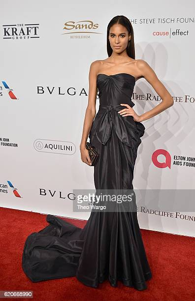 Model Cindy Bruna attends 15th Annual Elton John AIDS Foundation An Enduring Vision Benefit at Cipriani Wall Street on November 2 2016 in New York...