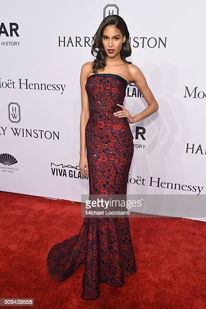 Model Cindy Bruna attends 2016 amfAR New York Gala at Cipriani Wall Street on February 10 2016 in New York City