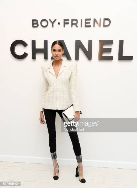 Model Cindy Bruna attends as CHANEL celebrates the launch of the Coco Club a BoyFriend Watch event at The Wing Soho on November 10 2017 in New York...