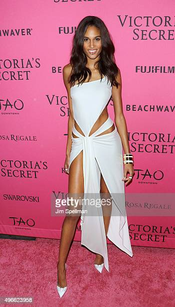 Model Cindy Bruna attends the 2015 Victoria's Secret Fashion Show after party at TAO Downtown on November 10 2015 in New York City