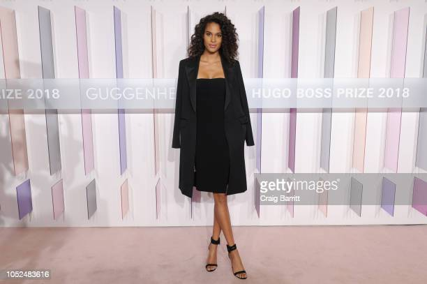Model Cindy Bruna attends the Hugo Boss Prize 2018 Artists Dinner at the Guggenheim Museum on October 18 2018 in New York City