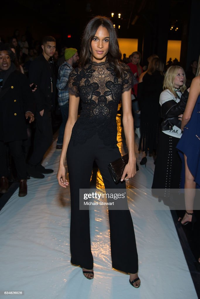 Model Cindy Bruna attends the Jonathan Simkhai fashion show during February 2017 New York Fashion Week: The Shows at Gallery 1, Skylight Clarkson Sq on February 11, 2017 in New York City.