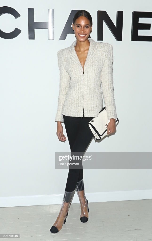Model Cindy Bruna attends the launch of The Coco Club celebrated by CHANEL at The Wing Soho on November 10, 2017 in New York City.