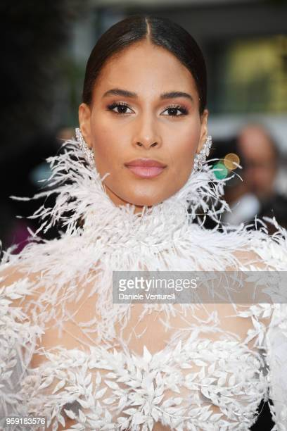 Model Cindy Bruna attends the screening of Burning during the 71st annual Cannes Film Festival at Palais des Festivals on May 16 2018 in Cannes France