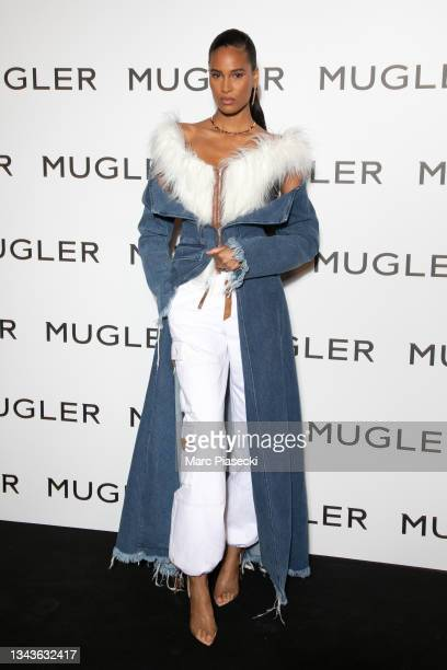 """Model Cindy Bruna attends the """"Thierry Mugler : Couturissime"""" Photocall as part of Paris Fashion Week at Musee Des Arts Decoratifs on September 28,..."""