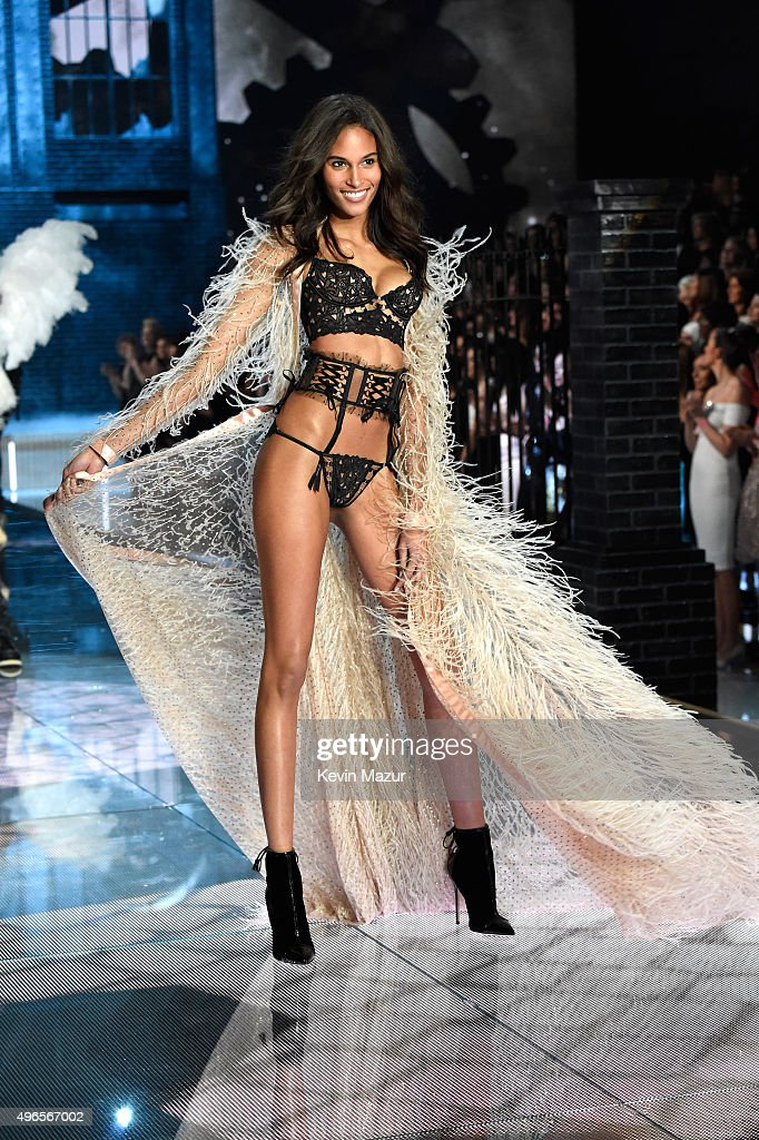 Model Cindy Bruna from France walks the runway during the 2015 Victoria's Secret Fashion Show at Lexington Armory on November 10, 2015 in New York City.