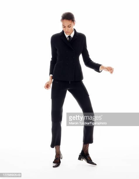 Model Cindy Bruna poses for a portrait on June 24, 2020 in Paris, France.