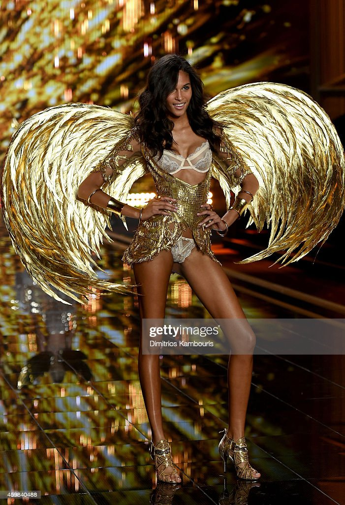 Model Cindy Bruna walks the runway during the 2014 Victoria's Secret Fashion Show at Earl's Court Exhibition Centre on December 2, 2014 in London, England.